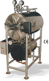 High Pressure Horizontal Gylindrical Steam Sterilizer (SS-702176)